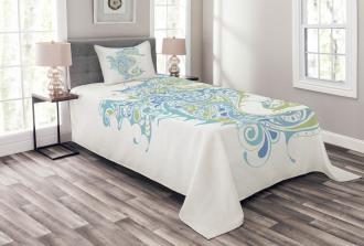 Greek Spiritual Seahorse Bedspread Set