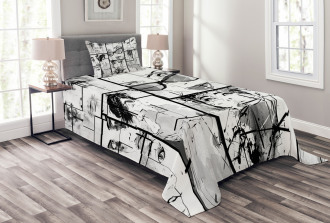 Modern Paris Girl Bedspread Set