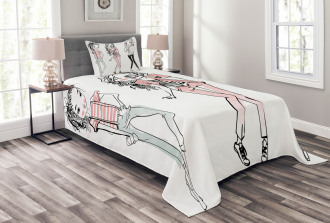 Cute Cartoon Teenagers Bedspread Set