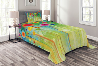 Abstract Art Dandelion Bedspread Set