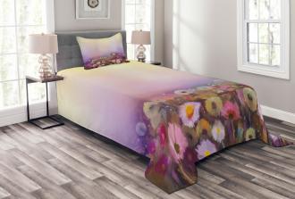 Different Blossom Types Bedspread Set