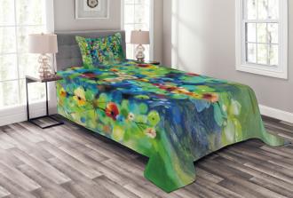 Colorful Flower on Tree Bedspread Set