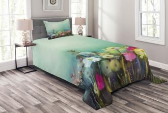 Dandelion Daisy Poppy Bedspread Set
