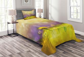 Yellow Dandelion Field Bedspread Set