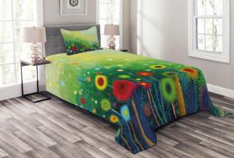 Retro Dandelions Bedspread Set