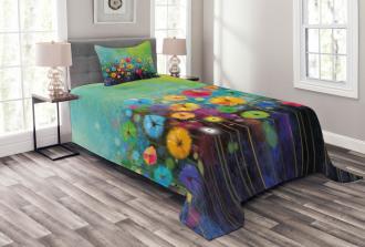 Colorful Dandelions Bedspread Set