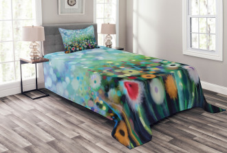 Flying Dandelions Art Bedspread Set