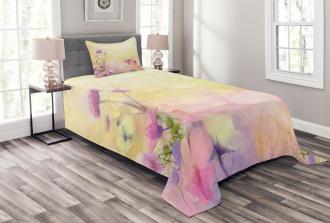 Vintage Magnolia Blooms Bedspread Set
