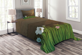 Chamomile Field Grass Bedspread Set