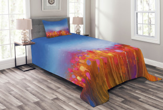 Tulip Garden Watercolor Bedspread Set