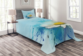 Painting Effect Daisy Bedspread Set