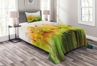 Violet Garden Flower Bedspread Set