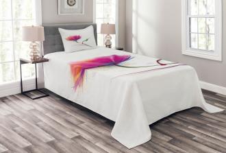 Watercolor Poppy Flower Bedspread Set