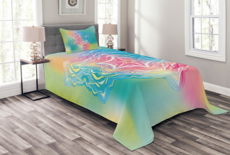 Flower Mandala Rainbow Bedspread Set