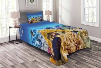 Ocean Corals Goldfish Bedspread Set