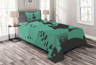Underwater Life Themed Bedspread Set