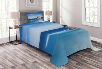 Rock in Ocean Serenity Bedspread Set