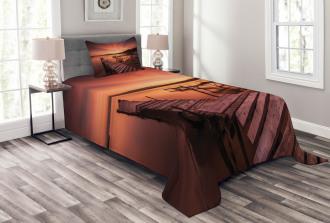 Twilight at Seaside Bedspread Set