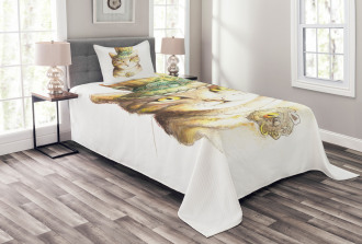 Watercolor Effect Animal Bedspread Set
