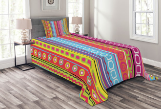 90's Retro Art Ethnic Bedspread Set