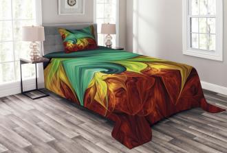 Stylized Fluid Colors Bedspread Set