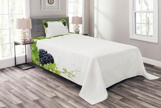 Wine Leaves in Village Bedspread Set