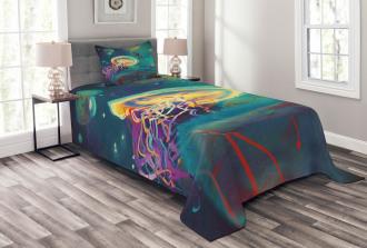 Submarine Jellyfish Bedspread Set