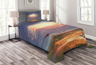 Beaming Sun Clouds Bedspread Set