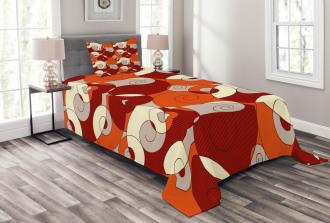 Spiral Abstract Stripes Bedspread Set
