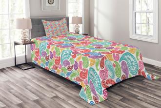 Modern Striped Oriental Bedspread Set