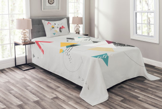 Triangle Geometric Bedspread Set