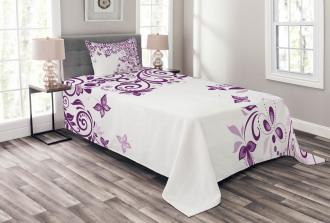 Lilium Floral Branch Bedspread Set