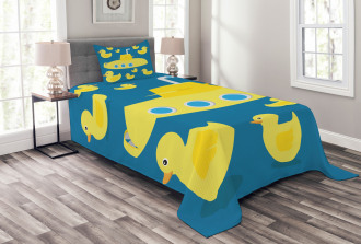 Yellow Submarine Bedspread Set