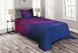 Stardust Space Rainbow Bedspread Set