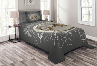 Time Alarm Building Cloud Bedspread Set