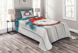 Midnight Clock Pine Bedspread Set