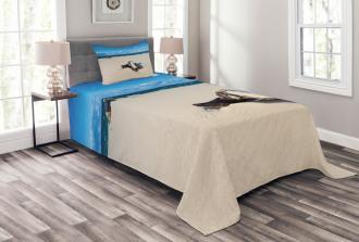 Sandy Sea Shore Digital Bedspread Set
