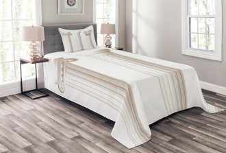 Ionic Doric and Marbles Bedspread Set