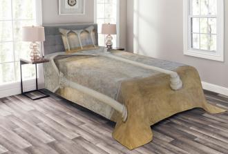 Antique Ancient Interior Bedspread Set