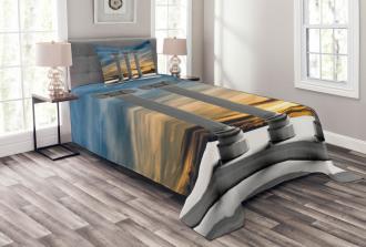 Sunset Modern Antique Bedspread Set