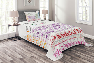 Chemistry Primary Table Bedspread Set