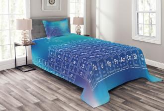 Chemistry Element Table Bedspread Set