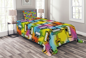 Fun Characters Pattern Bedspread Set
