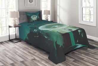 Dark Magic Fiction City Bedspread Set
