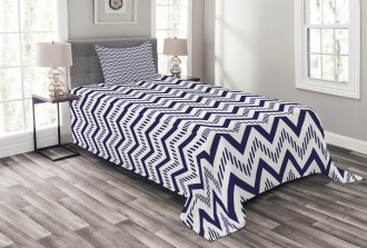 Zig Zag Striped Pattern Bedspread Set