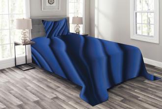 Digital Ocean Waves Bedspread Set