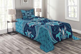 Floral Paisley Bohemic Bedspread Set