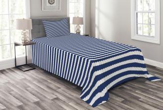 Rope Stripes Pattern Bedspread Set