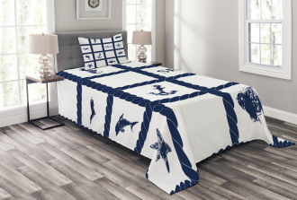 Starfish Anchor Sealife Bedspread Set