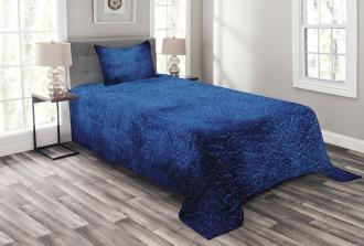 Dark Blue Contemporary Bedspread Set